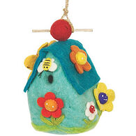 Wild Woolies Flower House Hand-Felted Birdhouse