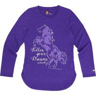 Carhartt Girls' Force Follow Your Dreams Long-Sleeve T-Shirt