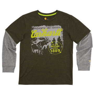 Carhartt Boys' Force In the Woods Long-Sleeve T-Shirt