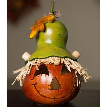 Meadowbrooke Gourds Owen Miniature Scarecrow Jack-O-Lantern
