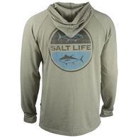 Salt Life Men's Seeing Tuna Lightweight Heathered Jersey Hoodie