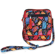 Sun N Sand Women's Quilted Multi Feline Small Crossbody Handbag