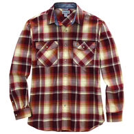 Carhartt Men's Rugged Flex Relaxed Fit Snap Front Plaid Long-Sleeve Shirt