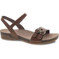Dansko Women's Rebekah Waxy Burnished Leather Sandal