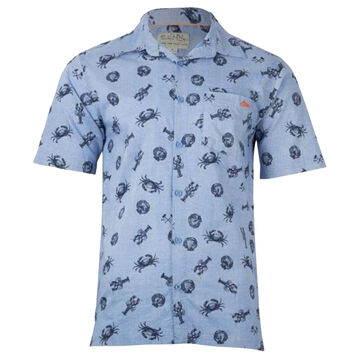 Salt Life Mens Seafest Woven Short-Sleeve Shirt