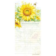 Pumpernickel Press Sunflower Field Magnetic List Notepad