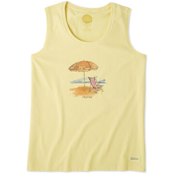 Life is Good Womens Unplug Beach Umbrella Crusher Scoop Tank