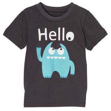 Doodle Pants Toddler Boys Blue Monster Short-Sleeve T-Shirt