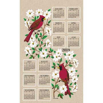 Kay Dee Designs 2019 Dogwood & Cardinal Calendar Towel