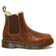 Dr. Martens AirWair Women's 2976 Leonore Orleans Leather Faux Fux-Lined Chelsea Boot