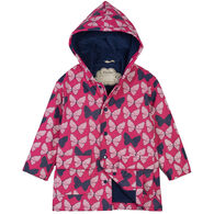 Hatley Toddler Girl's Spotted Butterflies Color Changing Rain Jacket