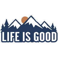 Life is Good Mountains Sticker