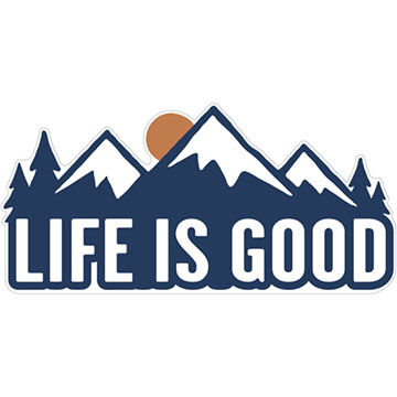 Life is Good Mountains Die-Cut Sticker