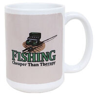 Earth Sun Moon Fishing Is Cheaper Than Therapy Mug