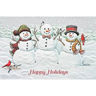 Pumpernickel Press Snowman Trio Deluxe Boxed Greeting Cards