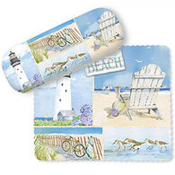 Cape Shore Coastal Collage Glasses Case