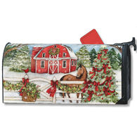 MailWraps Christmas On The Farm Magnetic Mailbox Cover