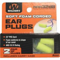 Walker's Soft Foam Corded Ear Plug - 2 Pair Pack