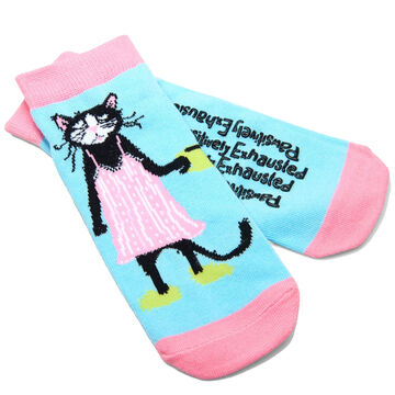 Hatley Womens Pawsitively Exhausted Ankle Sock