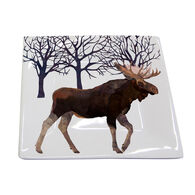 Paperproducts Design Winter Moose Square Plate
