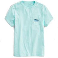Vineyard Vines Men's Atlantic Sailing Whale Short-Sleeve Pocket T-Shirt