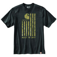 Carhartt Men's Big & Tall Relaxed Fit Midweight Camo Flag Graphic Short-Sleeve T-Shirt
