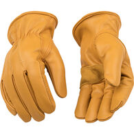 Kinco Men's Lined Premium Grain Cowhide Driver with Palm Patch Work Glove