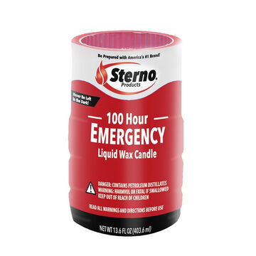 Sterno 100 Hour Emergency Soft Light Liquid Wax Candle