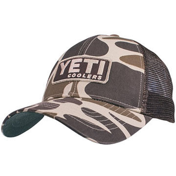 YETI Mens Custom Camo Trucker Hat with Patch