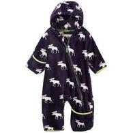 Hatley Infant Boy's Moose Silhouettes Fuzzy Fleece Bundler