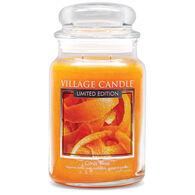Village Candle Large Glass Jar Candle - Citrus Twist
