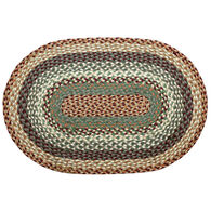 Capitol Earth Oval Buttermilk/Cranberry Braided Rug