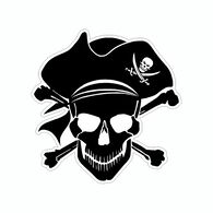 Sticker Cabana Pirate Skull Mini Sticker