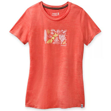 SmartWool Womens Merino 150 Sport Spring Leaves Graphic Short-Sleeve T-Shirt