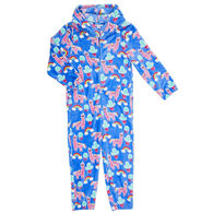Candy Pink Girl's Llama Pajama Onesie