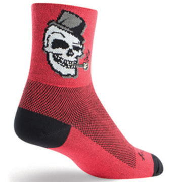 SockGuy Mens Skully Bicycling Sock