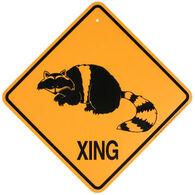 KC Creations Raccoon XING Sign