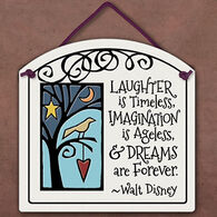 "Spooner Creek ""Laughter Is Timeless"" Small Arch Tile"