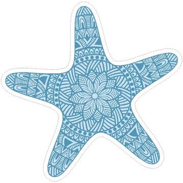 Sticker Cabana Starfish Design Sticker