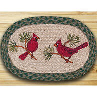 Capitol Earth Oval Braided Cardinal Rug