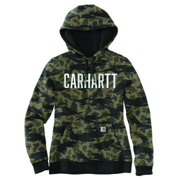 Carhartt Womens Relaxed Fit Midweight Camo Graphic Sweatshirt
