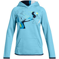 Under Armour Girls' Armour Fleece Print Logo Sweatshirt