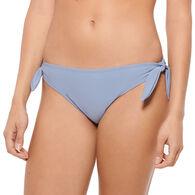 Hot Water Women's Solid Bikini Shirring Swimsuit Bottom