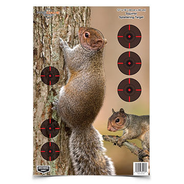 "Birchwood Casey Pregame 12"" x 18"" Squirrel Reactive Paper Target - 8 Pk."