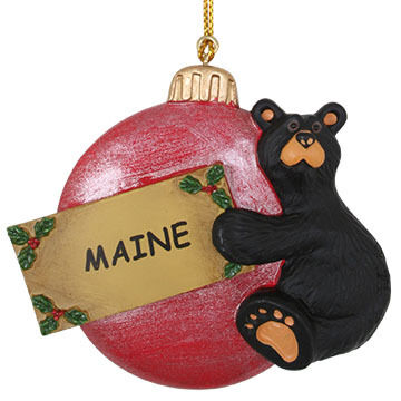 Big Sky Carvers Cub On Ball Ornament