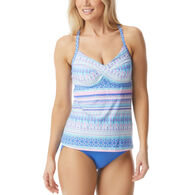 Beach House - Swimwear Anywear Women's Lucy Beachy Keen Twist Tankini Top Swimsuit