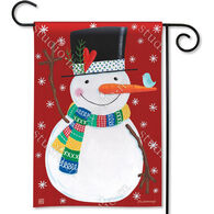 BreezeArt Winter Happiness Decorative Garden Flag