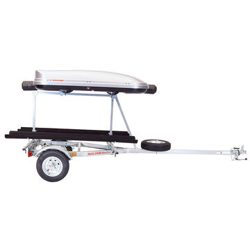 Malone Auto Racks MicroSport LowBed Trailer w/Tier - Assembled