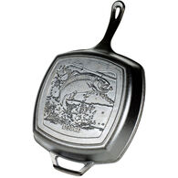 "Lodge Wildlife Series Fish 10.5"" Square Cast Iron Grill Pan"