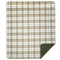 Monterey Mills Denali Tartan Plaid Stone Throw Blanket